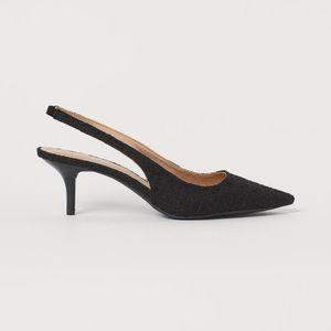 H&M sling back kitten heels NWT